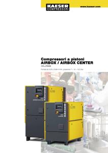 Compressori a pistoni Serie AIRBOX AIRBOX CENTER