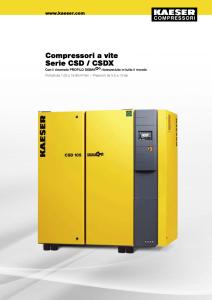 Compressori a vite Serie CSD CSDX