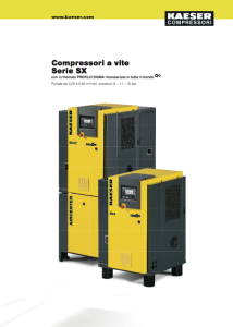Compressori a vite Serie SX
