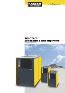 Essiccatori a ciclo frigorifero Serie SECOTEC