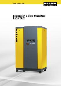 Essiccatori a ciclo frigorifero Serie TG TI