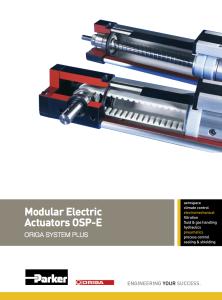 Attuatori lineari elettrici modulari OSPE