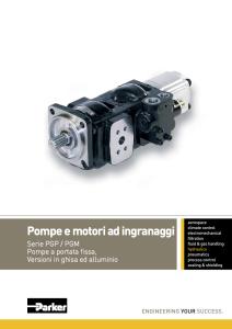 Pompe e motori ad ingranaggi PGP-PGM